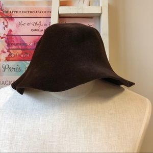 Accessories - Genuine Leather Brown Suede Bucket Hat One Size